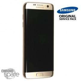 Ecran LCD + Vitre tactile Noire Samsung S7 Edge G935F (officiel) GH97-18533C