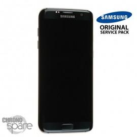 Ecran LCD + Vitre tactile Noire Samsung S7 Edge G935F (officiel) GH97-18533A