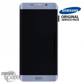 Ecran LCD + Vitre Tactile Bleu Corail Samsung Galaxy S7 edge G935F (officiel) GH97-18533G