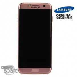 Ecran LCD et Vitre Tactile Or Rose Samsung S7 Edge G935F (officiel) GH97-18533E
