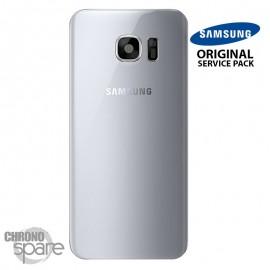 Vitre arrière + vitre caméra Argent (officiel) Samsung Galaxy S7 Edge G935F