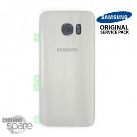 Vitre arrière + vitre caméra Blanc (officiel) Samsung Galaxy S7 Edge G935F