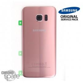 Vitre arrière + vitre caméra Rose (officiel) Samsung Galaxy S7 Edge G935F