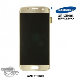 Ecran LCD + Vitre Tactile Or Samsung Galaxy S7 G930F (officiel) GH97-18523C