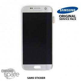 Ecran LCD + Vitre Tactile Argent Samsung Galaxy S7 G930F (officiel) GH97-18523B