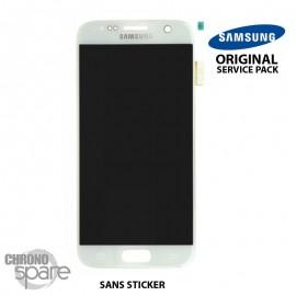 Ecran LCD + Vitre Tactile blanche Samsung Galaxy S7 G930F (officiel) GH97-18523D