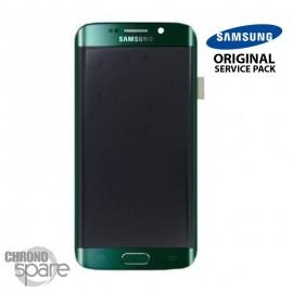 Vitre tactile + Ecran LCD + Châssis Samsung Galaxy S6 Edge Vert (G925F) GH97-17162E (officiel)