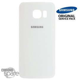 Vitre arrière Samsung S6 edge G925F blanc (officiel)
