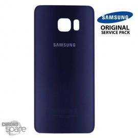 Vitre arrière Samsung S6 G920F bleu/noir (officiel)