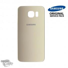 Vitre arrière Samsung S6 G920F or (officiel)