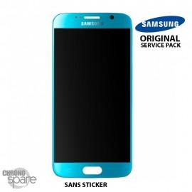 Vitre tactile + écran LCD Samsung Galaxy S6 G920F Bleu turquoise GH97-17260D (officiel)