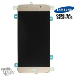 Ecran LCD + Vitre Tactile Or Samsung Galaxy J5 2017 J530F (officiel) GH97-20738C