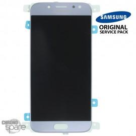 Ecran LCD + Vitre Tactile Argent/Bleu Samsung Galaxy J5 2017 J530F (officiel) GH97-20738B