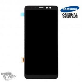 Vitre tactile et ecran LCD Samsung Galaxy A8 Plus 2018 A530F (Officiel) Noir