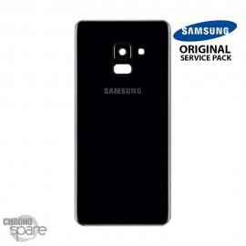 Vitre arrière+vitre caméra Noir (officiel) Samsung Galaxy A8 A530F