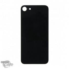 Plaque arrière en verre iPhone 8 noir (pour machine laser)
