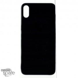 Plaque arrière en verre iPhone X noir (pour machine laser)