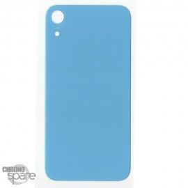 Plaque arrière en verre iPhone XR bleu (pour machine laser)