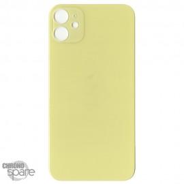 Plaque arrière en verre iPhone 11 jaune (pour machine laser)