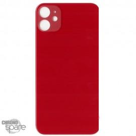 Plaque arrière en verre iPhone 11 rouge (pour machine laser)