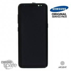 Ecran LCD + Vitre Tactile argent Samsung Galaxy S8 G950F (officiel) GH97-20457B