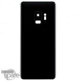 Vitre arrière+vitre caméra Noire (compatible) Samsung Galaxy S9 G960F
