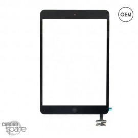 Vitre tactile noire + bouton home + scotch 3M iPad Mini 1/2 OEM