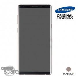 Vitre tactile et écran LCD Samsung Galaxy Note 9 SM-N960 (officiel) Marron