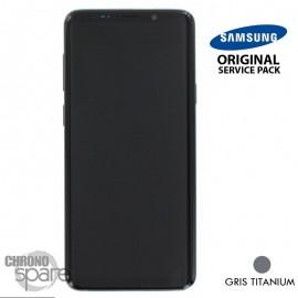 Ecran LCD + Vitre Tactile + châssis gris titanium Samsung Galaxy S9 Plus G965F (officiel)