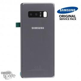 Vitre arrière + Vitre caméra Gris Samsung Galaxy Note 8 SM-N950F (officiel)