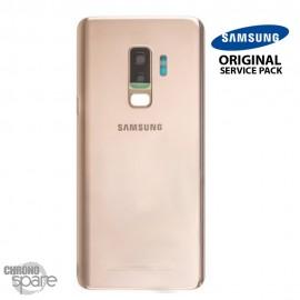 Vitre arrière + vitre caméra Or Samsung Galaxy S9 PLUS G965F (Officiel)