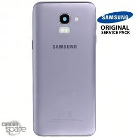 Vitre arrière + vitre caméra Violet Samsung Galaxy J6 2018 J600F (Officiel)