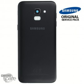 Vitre arrière + vitre caméra Noire Samsung Galaxy J6 2018 J600F (Officiel)