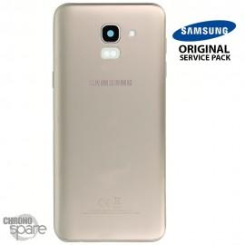 Vitre arrière + vitre caméra Or Samsung Galaxy J6 2018 J600F (Officiel)
