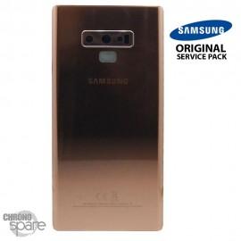 Vitre arrière + vitre caméra Marron Samsung Galaxy Note 9 SM-N960 (Officiel)