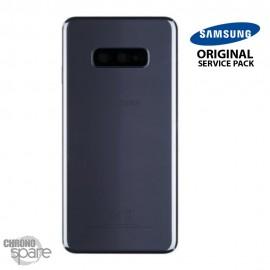 Vitre arrière + vitre caméra Noir Samsung Galaxy S10e G970F (Officiel)