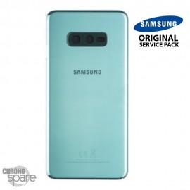 Vitre arrière + vitre caméra Vert Samsung Galaxy S10e G970F (Officiel)