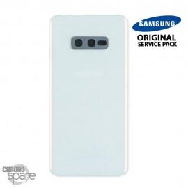 Vitre arrière + vitre caméra Blanc Samsung Galaxy S10e G970F (Officiel)
