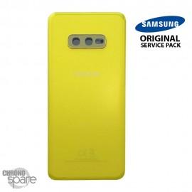 Vitre arrière + vitre caméra Jaune Samsung Galaxy S10e G970F (Officiel)