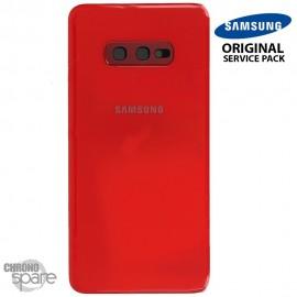 Vitre arrière + vitre caméra Rouge Samsung Galaxy S10e G970F (Officiel)