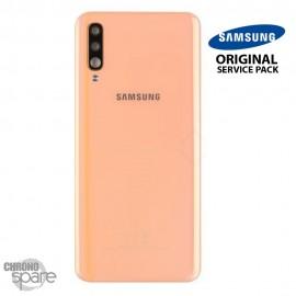 Vitre arrière + vitre caméra Corail Samsung Galaxy A50 A505F (Officiel)