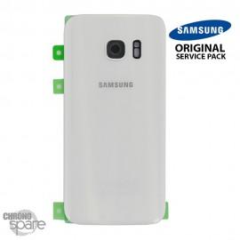 Vitre arrière + vitre caméra Blanc (officiel) Samsung Galaxy S7 G930F