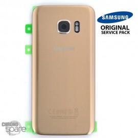 Vitre arrière + vitre caméra OR (officiel) Samsung Galaxy S7 G930F