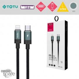 Câble Type-C vers Lightning 18/30W vert TOTU