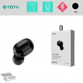 Oreillette Bluetooth noire TOTU