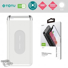 PowerBank induction 10000 mAh blanc TOTU