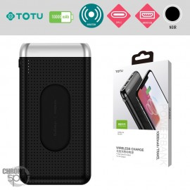 PowerBank induction 10000 mAh noir TOTU
