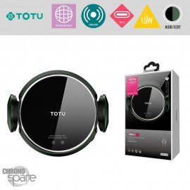 Support voiture induction 15W noir TOTU