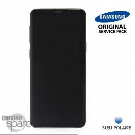 Ecran LCD + Vitre Tactile + châssis Bleu Polaire Samsung Galaxy S9 G960F (officiel)
