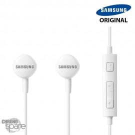 Écouteurs Samsung (originaux) Blanc - Prise jack - Blister HS1303